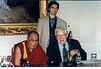 His Holiness the 14th Dalai Lama, Sir Peter Alexander Ustinov and Stephan Mögle-Stadel
